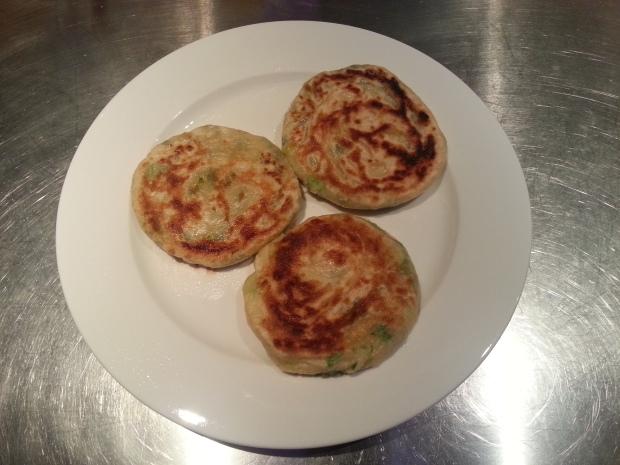 Scallion (aka Spring Onions) pancakes