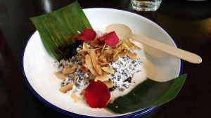 Black sticky rice with salted coconut cream